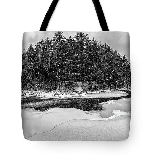 Rocky Gorge N H, River Bend 1 Tote Bag