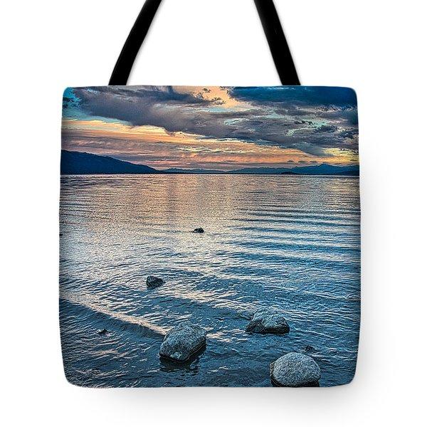 Rocky Lake Vista Tote Bag
