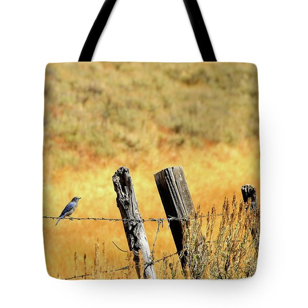 Rocky Mountain Blue Bird Tote Bag