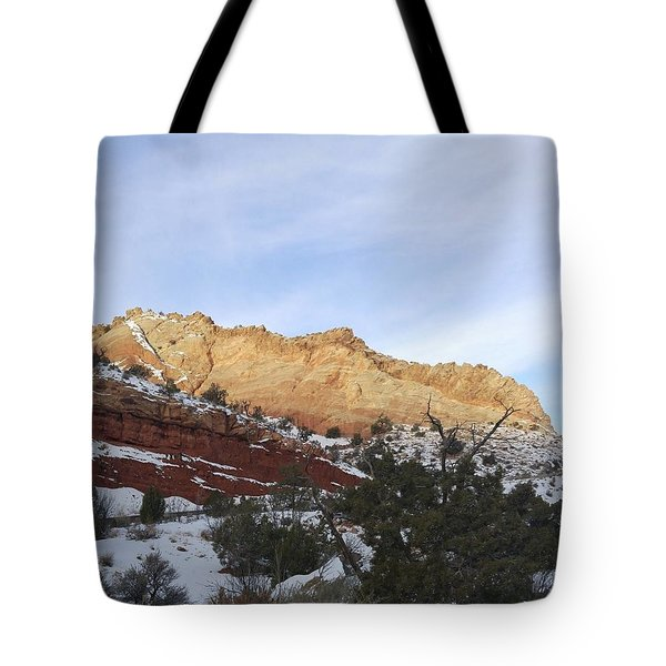 Rocky Slope Tote Bag
