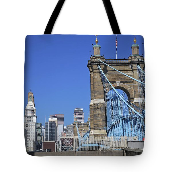 Roebling Bridge Tote Bag