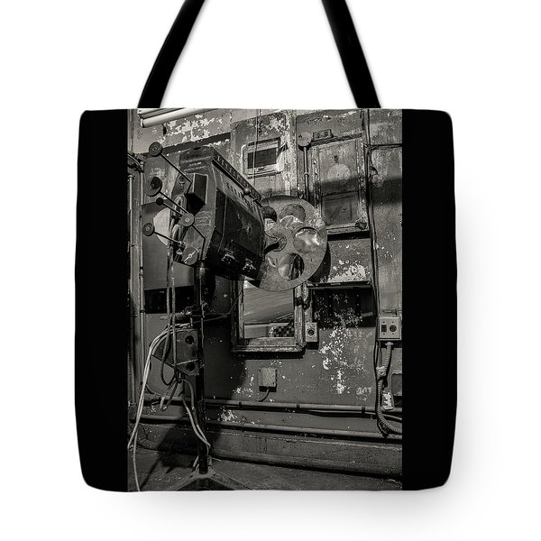 Tote Bag featuring the photograph Roll The Film - Bw by Kristia Adams