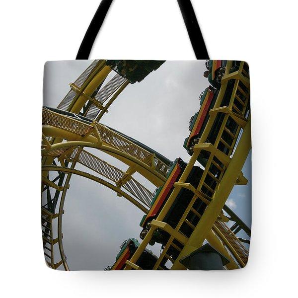 Roller Coaster Loops Tote Bag