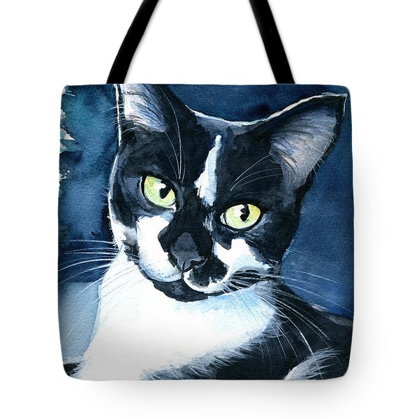 Rollie Tuxedo Cat Painting Tote Bag