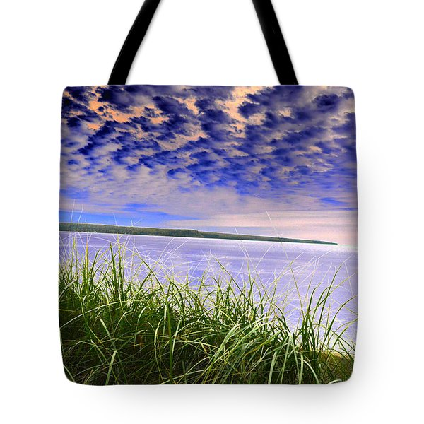 Rolling Blue Sky Over Lake Superior Tote Bag