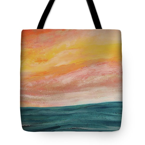Tote Bag featuring the painting Rolling Ocean by Valerie Anne Kelly