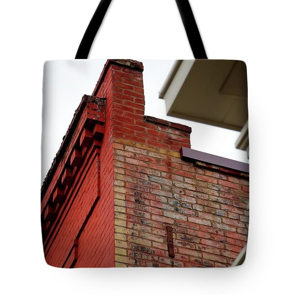 Tote Bag featuring the photograph Roofline Details by Jerry Sodorff