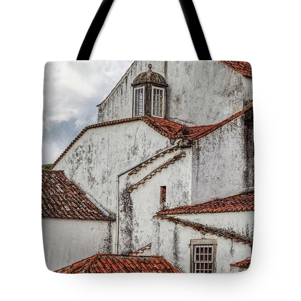 Tote Bag featuring the photograph Rooftops Of Obidos by David Letts