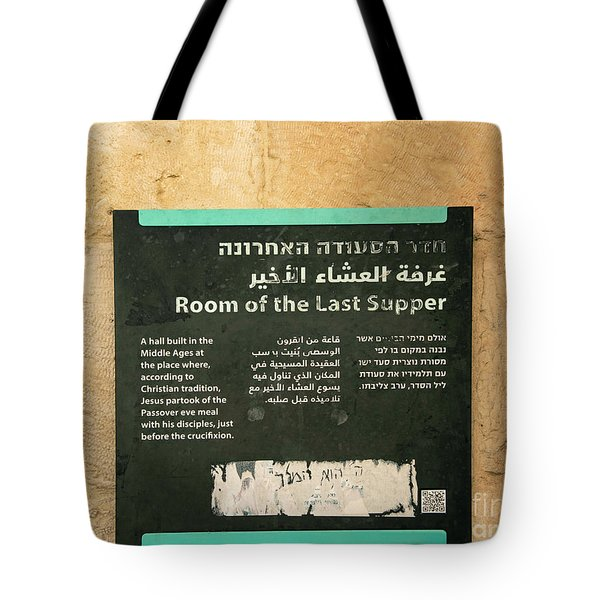 Tote Bag featuring the photograph Room Of The Last Supper by Mae Wertz