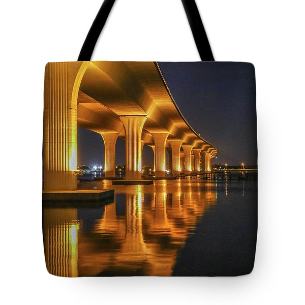 Tote Bag featuring the photograph Roosevelt Bridge Portrait by Tom Claud