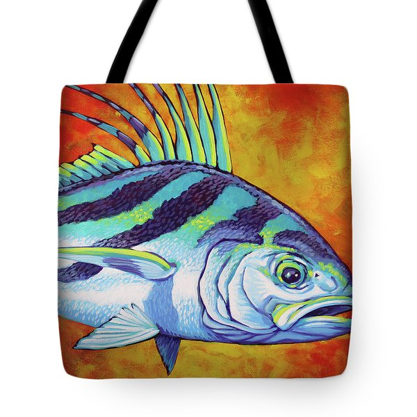 Rooster Fish 2 Tote Bag