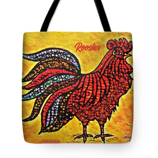 Rooster In The Moring Tote Bag