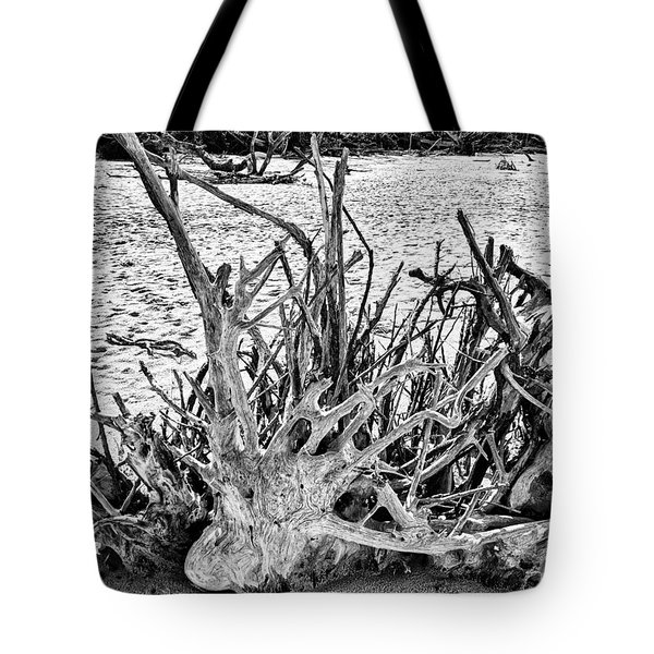 Rooted In Black And White Tote Bag