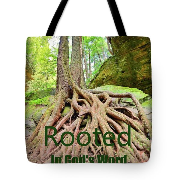 Rooted In God's Word Tote Bag