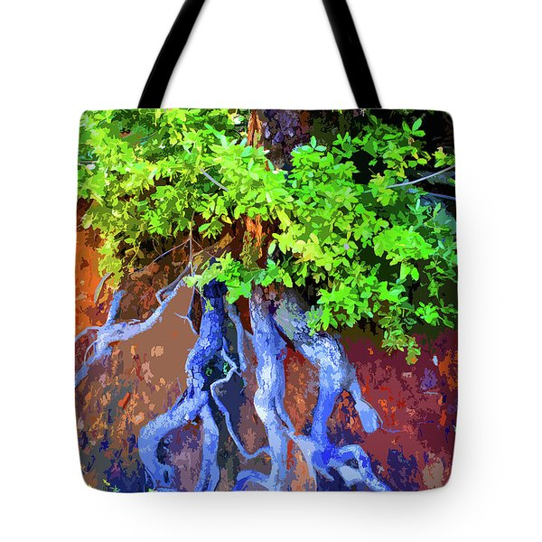 Tote Bag featuring the photograph Roots Of Life by Ben Upham III