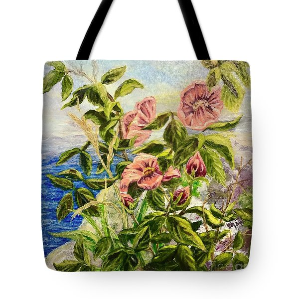 Rosa By The Sea Tote Bag