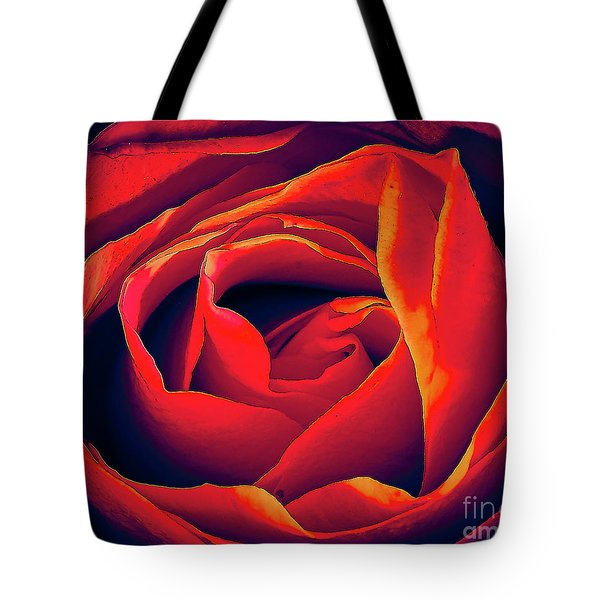Rose Ablaze Tote Bag