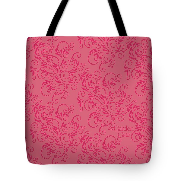 Rose Colored Fern Pattern Tote Bag