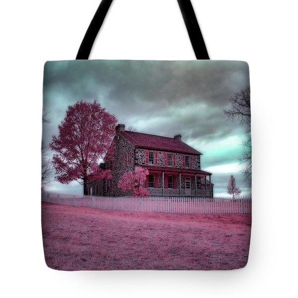 Rose Farm In Infrared Tote Bag