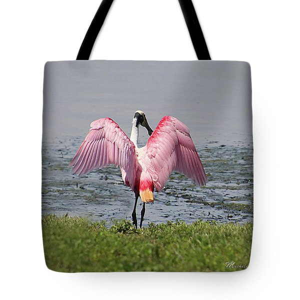 Tote Bag featuring the photograph Roseate Spoonbill by Michele A Loftus