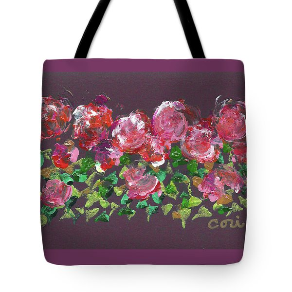 Tote Bag featuring the painting Roses 1001 by Corinne Carroll