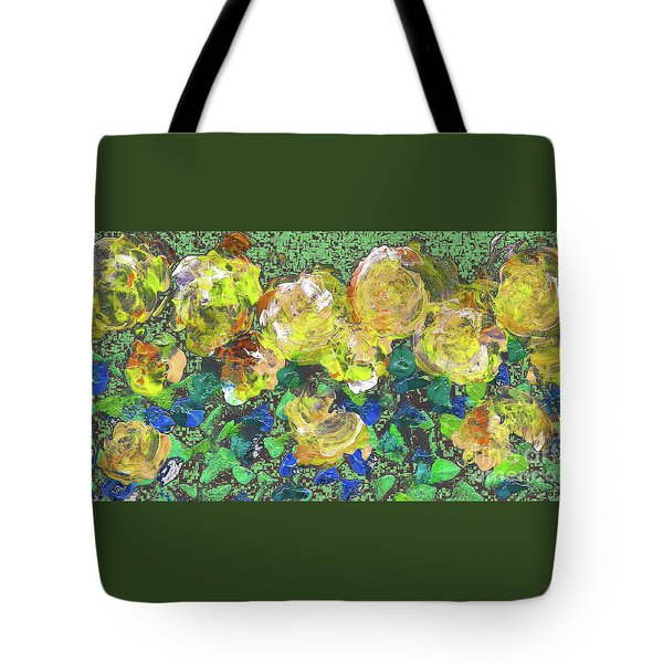 Roses 1001 Yellow Tote Bag