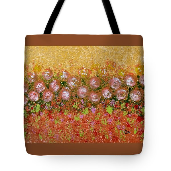 Tote Bag featuring the painting Roses Of Autumn by Corinne Carroll