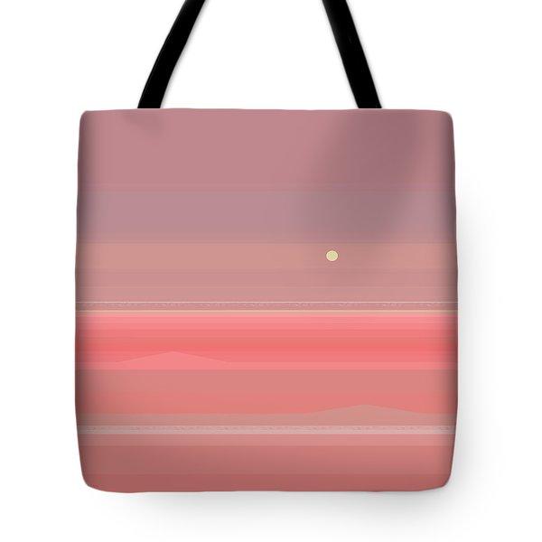 Rosy Sea Tote Bag