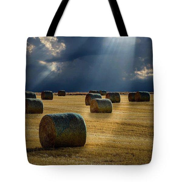 Round Bales Tote Bag