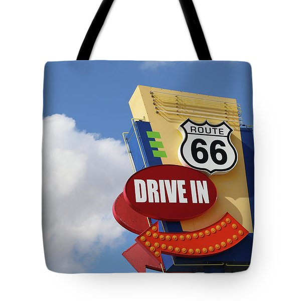 Route 66 Drive-in Sign Tote Bag