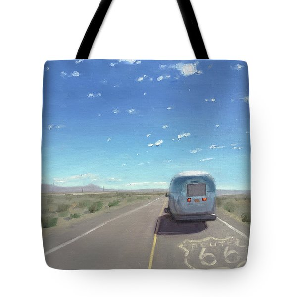 Route 66, Somewhere In California Tote Bag