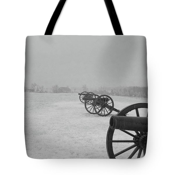 Row Of Cannon Tote Bag
