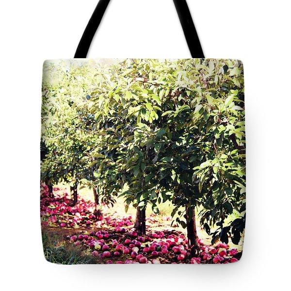 Row Of Red Tote Bag