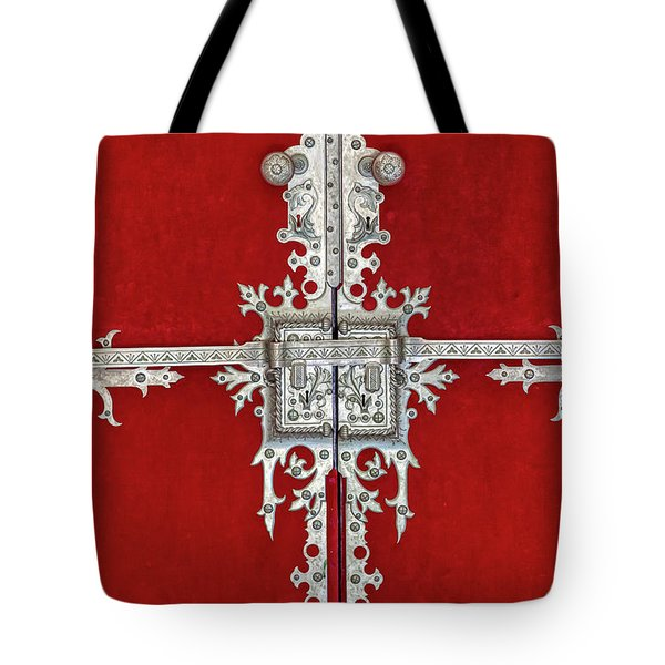 Tote Bag featuring the photograph Royal Door Of Sintra by David Letts