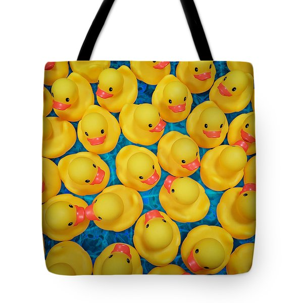 Rubber Duck Meet And Greet Tote Bag