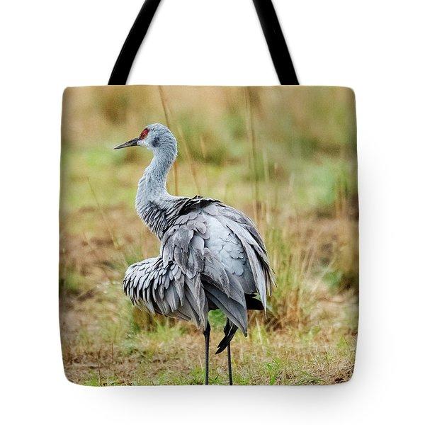Ruffled Crane Tote Bag