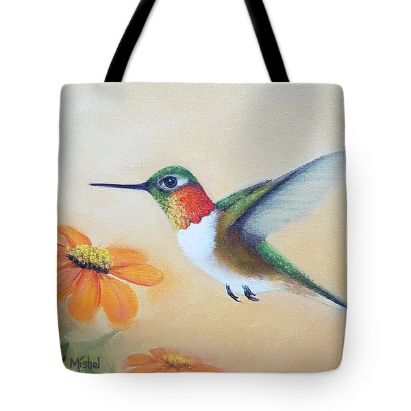 Rufous In Marigolds  Tote Bag