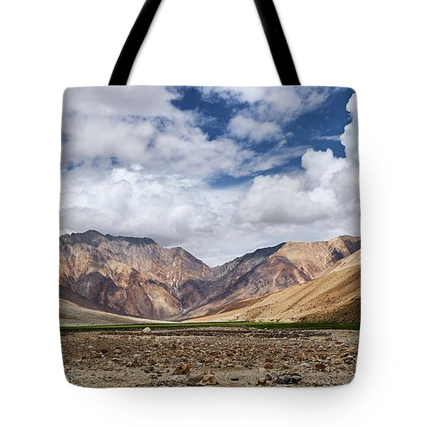 Tote Bag featuring the photograph Rugged Himalayan Mountains by Whitney Goodey