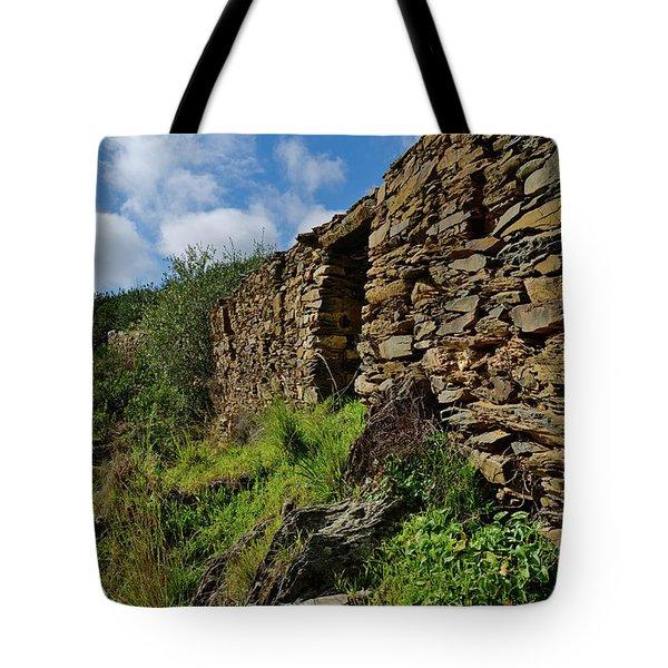 Ruins Of A Schist Cottage In Alentejo Tote Bag