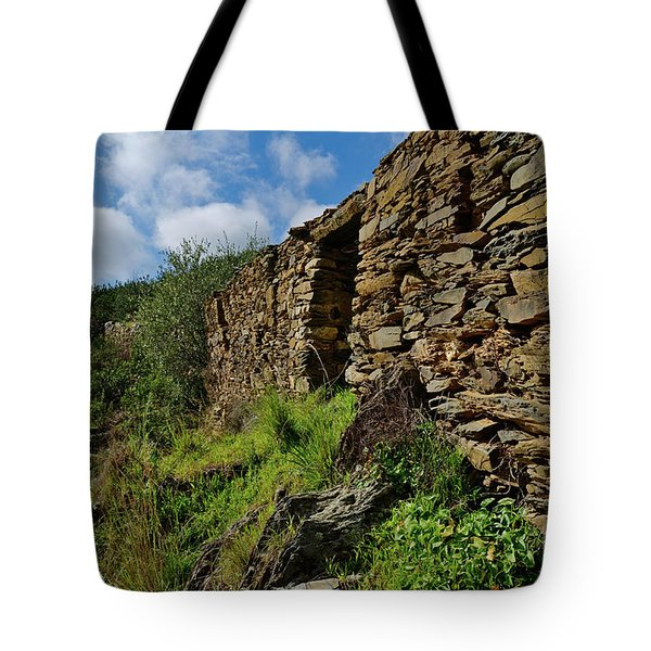 Ruins Of A Schist Cottage In Alentejo Tote Bag