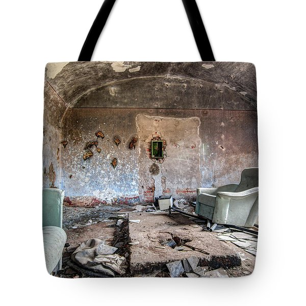 Ruins Of Old Farm Buildings Tote Bag