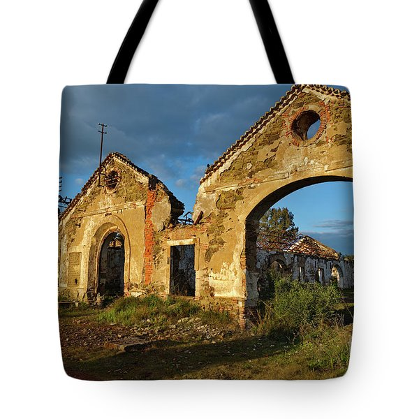Ruins Of The Abandoned Mine Of Sao Domingos. Portugal Tote Bag