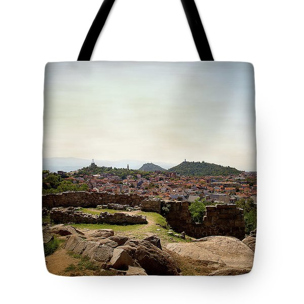 Tote Bag featuring the photograph Ruins On The Top Of The Hill by Milena Ilieva