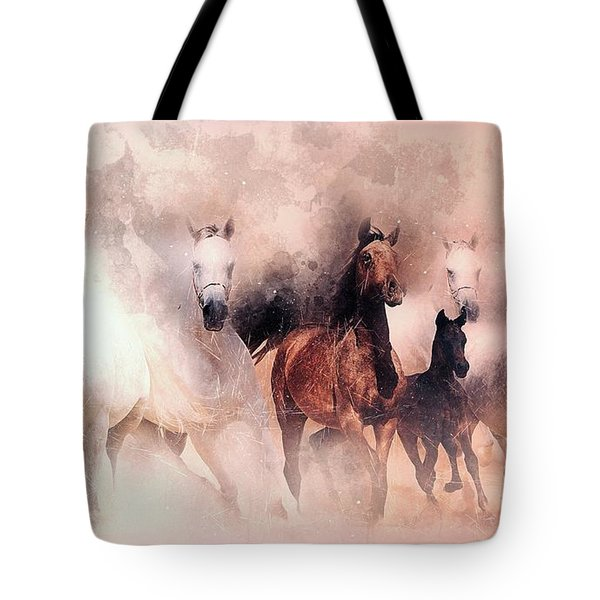 Running Horse Tote Bag