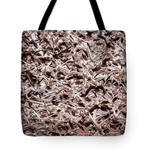 Tote Bag featuring the photograph Rush Hour by Jeff Phillippi