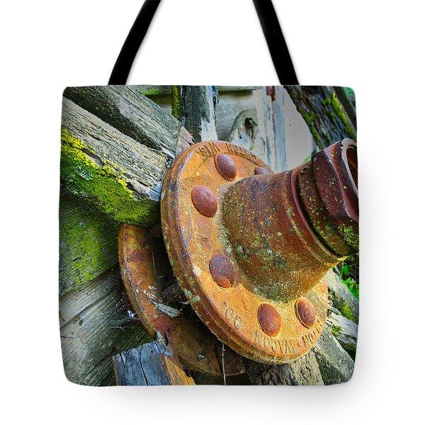 Rusted Hub Tote Bag