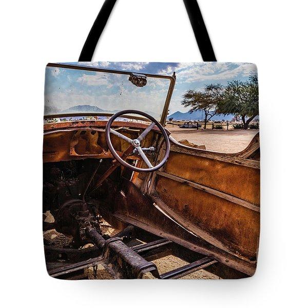 Rusty Car Leftovers Tote Bag