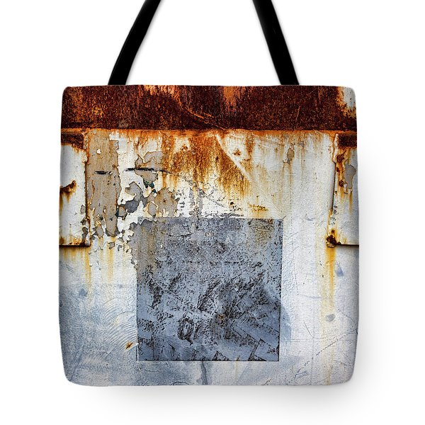 Rusty Patched Up Boat Tote Bag