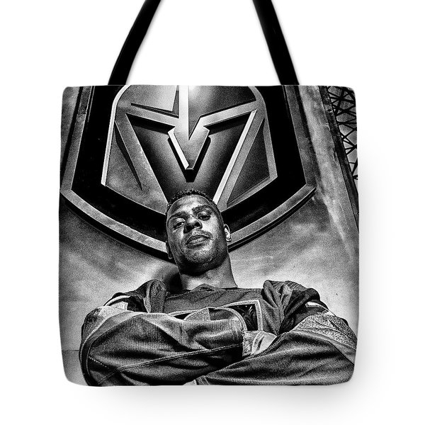 Tote Bag featuring the photograph Ryan Reaves Vegas Golden Knights by Michael Rogers