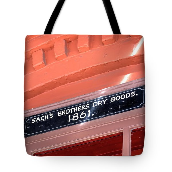 Tote Bag featuring the photograph Sach Brothers by Jerry Sodorff